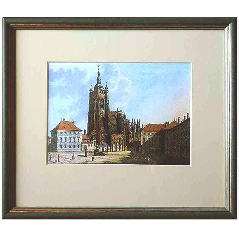 Chrám sv.Víta,V.Morstadt | 26x22cm (Zarámovaný obraz)