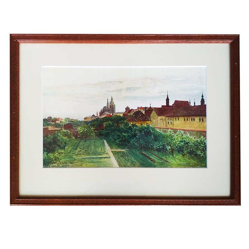 Jansa Václav tisk – Praha - Černínský palác | Jansa Václav | 36x27cm (Zarámovaný obraz)