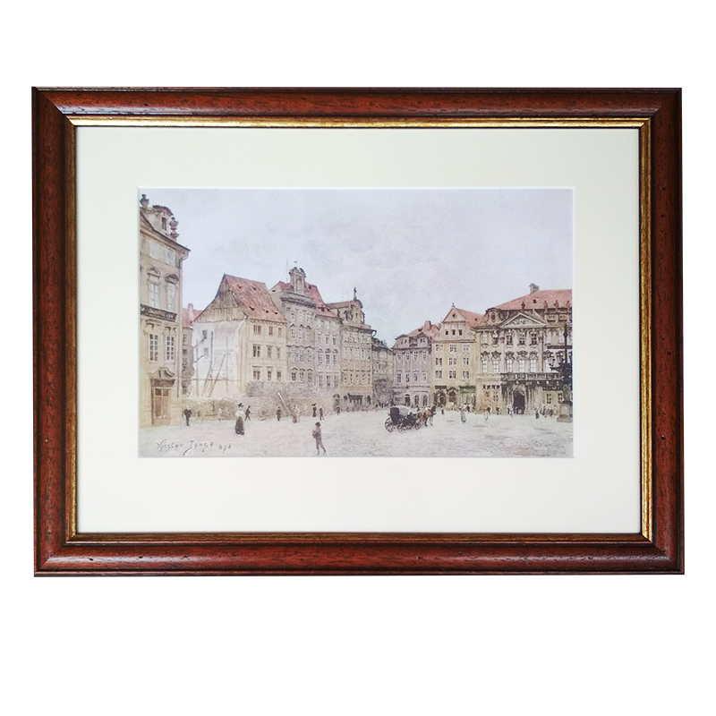 Jansa Václav tisk – Praha | Jansa Václav | 42x33cm (Zarámovaný obraz)