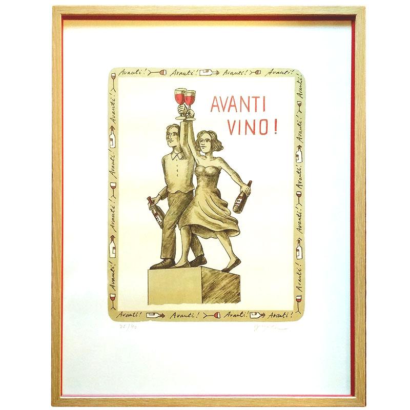 Slíva originál - Avanti Vino!   Slíva   50x63cm (Zarámovaný obraz)