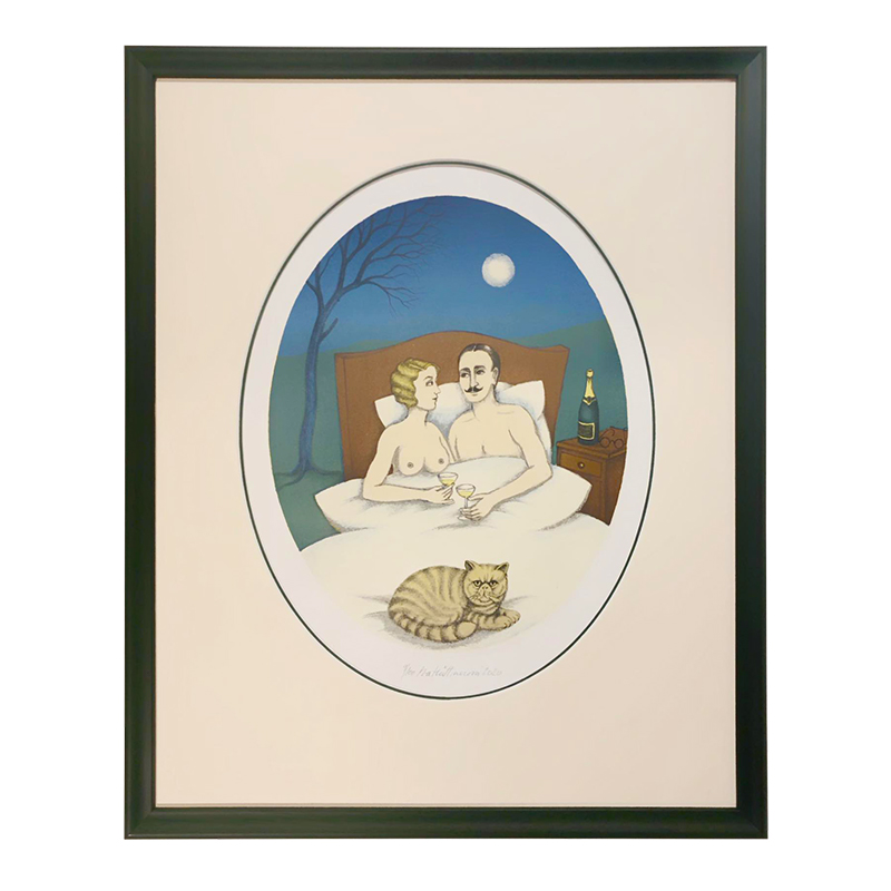 Hüttnerová Iva - Milenci v posteli | 49x59