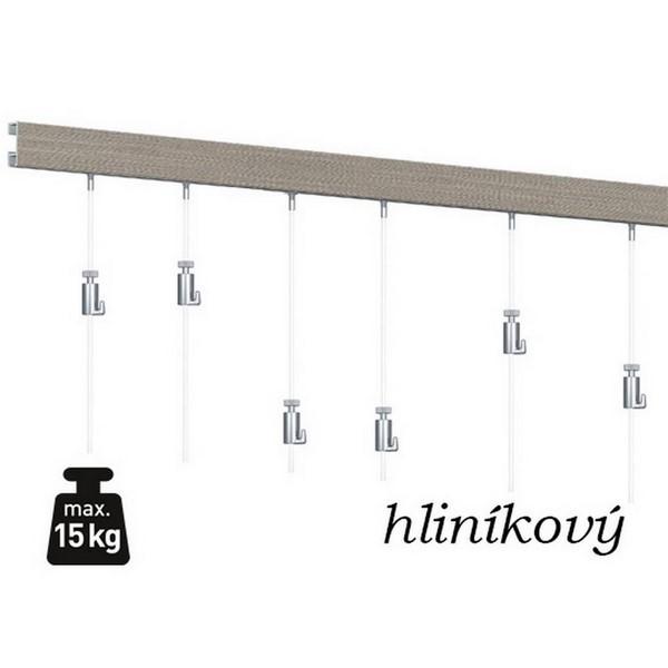 SET_ClickRail_hlinik_3m_6xOcel | SET HLINÍK 3m (6x ocel, 6x RH)
