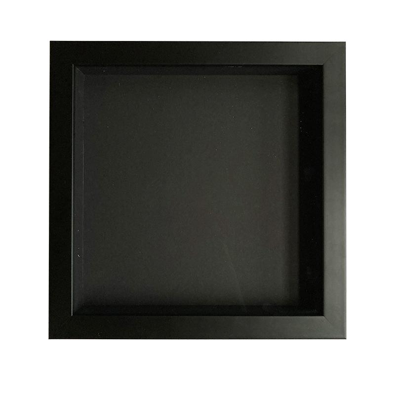 Kazetka pro domácí 3d rámování 20x20 cm černá, hloubka 35mm (zarámuj s